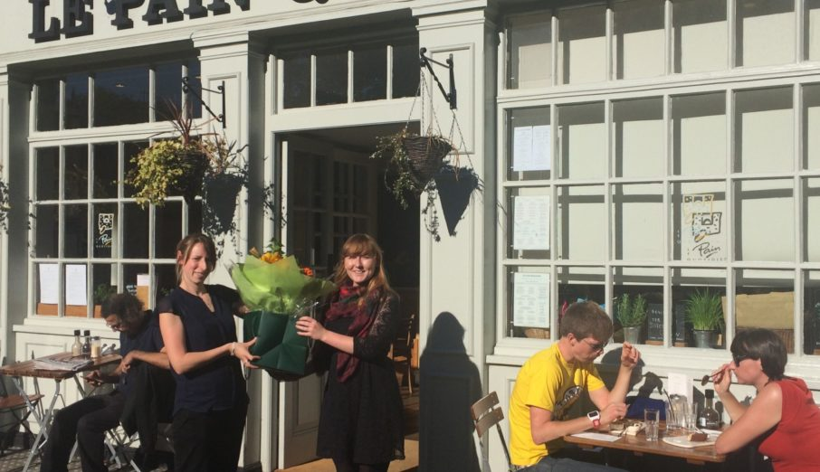 Our 2 millionth collection took place at Le Pain Quotidien's Highgate store on Wednesday 14th September.