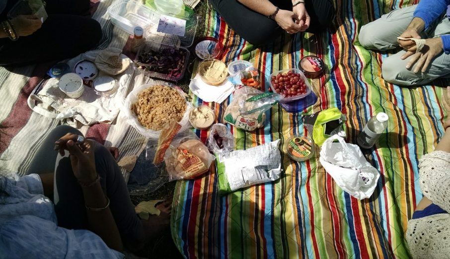 A BBQ on the beach, campfires in the woods or a picnic in the park, all images that come to mind when you think of summer and eating outdoors. Recycling bins, not so much.