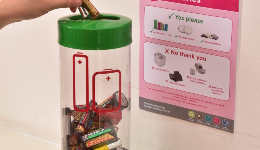 At Paper Round we offer a battery recycling service that is fully compliant with UK legislation and processes them safely and environmentally.