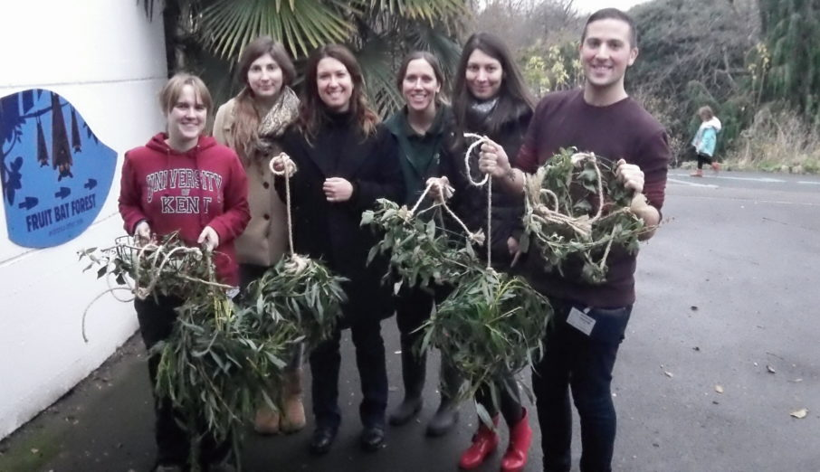 At Paper Round we are proud to support the Zoological Society of London, and on Friday afternoon a group of us went to London Zoo to make some Christmassy treats for the animals there.