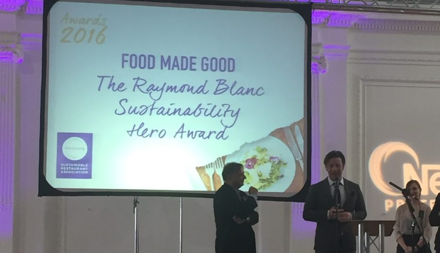 """On Tuesday 22nd March, the 5th Sustainable Restaurant Awards was held, newly rebranded as the """"Food Made Good"""" awards."""