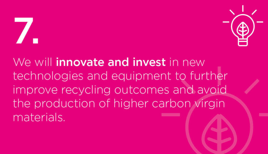 This week, we're announcing our 7th #SustainABLEpathway commitment, to innovate and invest in new technologies and equipment tofurtherimprove recycling outcomes and avoidtheproduction of higher carbon virgin materials.