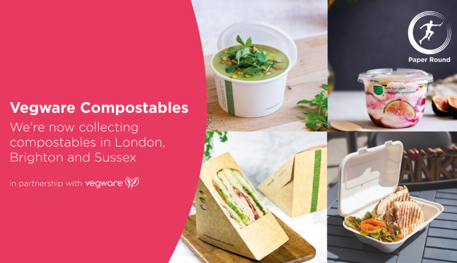 Exciting news! We've launched a new recycling scheme in partnership with award winning compostables manufacturer Vegware.