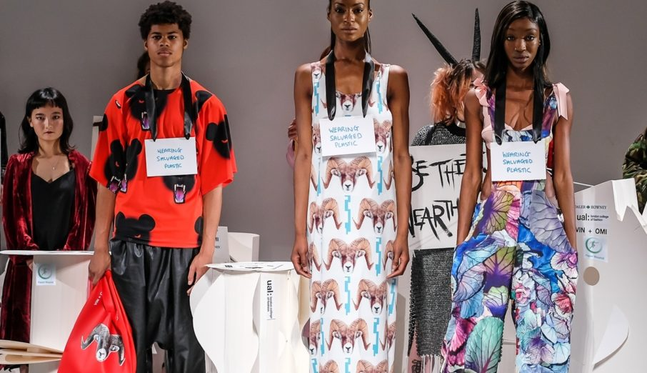 Planet-saving fashion warriors, Vin and Omi had single-use plastic saved just in the nick of time by Paper Round during London Fashion Week Men's.