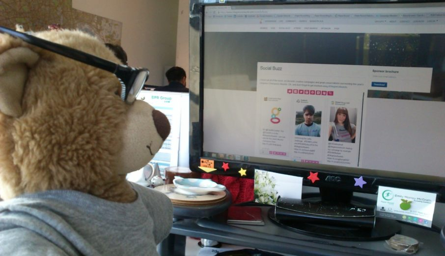 Today I'd like to tell you about the 2degrees awards. 2degrees are a community for sustainable businesses who want to work together to increase sustainability. Anyone can become a member, all you need to do is sign up and it's completely free. Over the next few weeks we'll be campaigning across social media for votes with the help of Bertie, the BPR Bear.