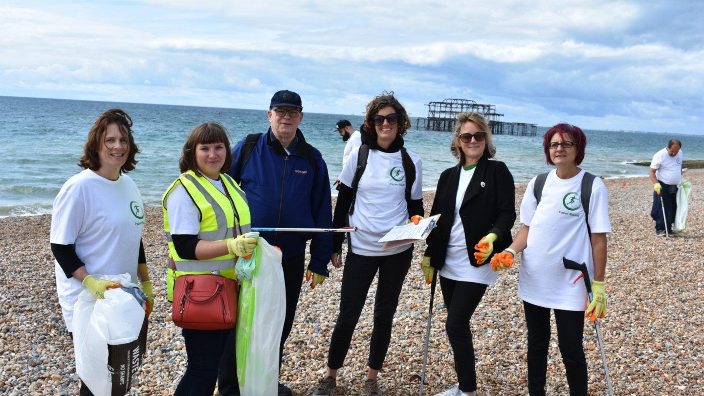 Beach clean in Brighton