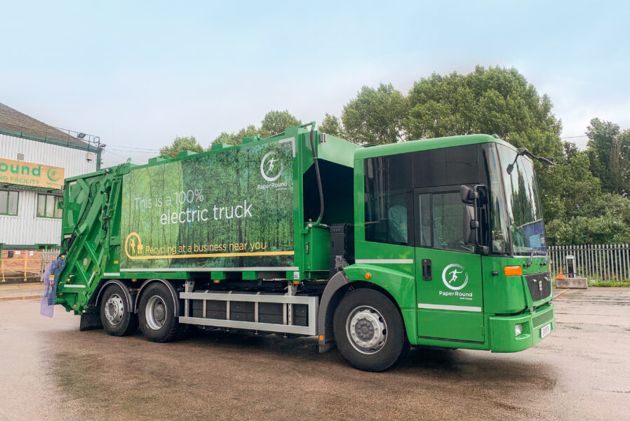 Electric truck servicing London